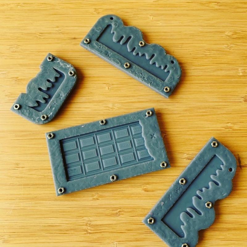 板チョコ用3Dプリンター型
